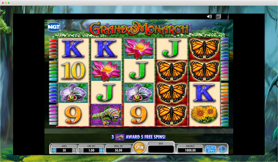 Grand Monarch Slot Game View