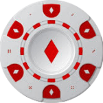 Casino Chip Red White