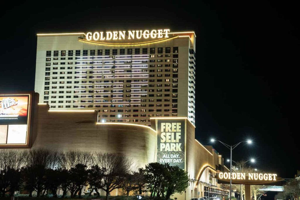 Golden Nugget AC by Night